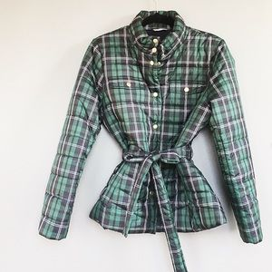 J Crew Green Navy Plaid Jacket